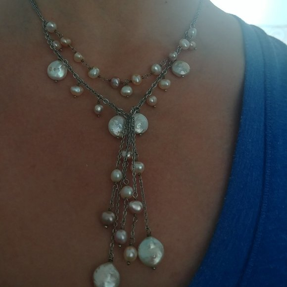 Natural multi colors fresh water pearl necklace